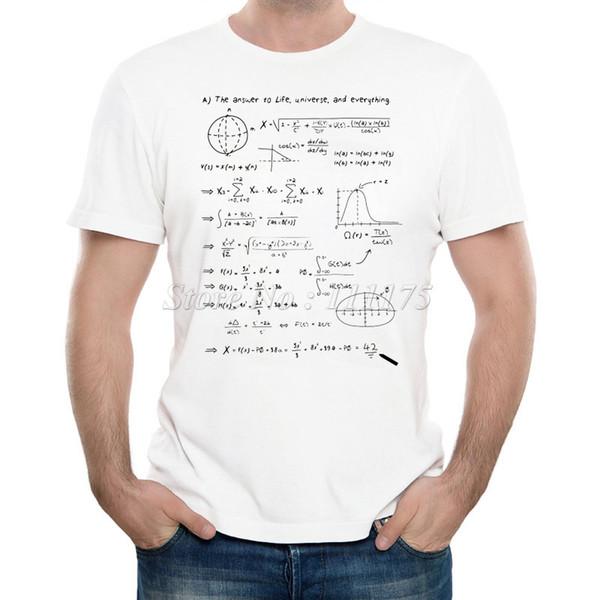 Hayat Baskılı Tişört Yaz Serin Tasarım Erkek Yeni Moda Matematik Cevap Yumuşak Kısa Kollu Tee S-3XL Tops