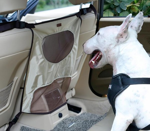 NEW Dog Barrier for Car Pets Dog Car Seat Protective Accessaries Car Back Seat Net Outgoing Barrier Screen Backseat Dog Safety Buffer Device