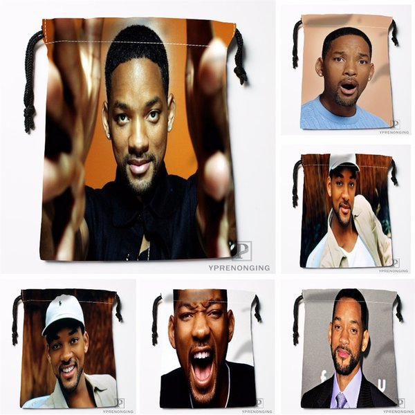 Custom Will Smith Drawstring Bags Travel Storage Mini Pouch Swim Hiking Toy Bag Size 18x22cm#0412-03-43 #529792