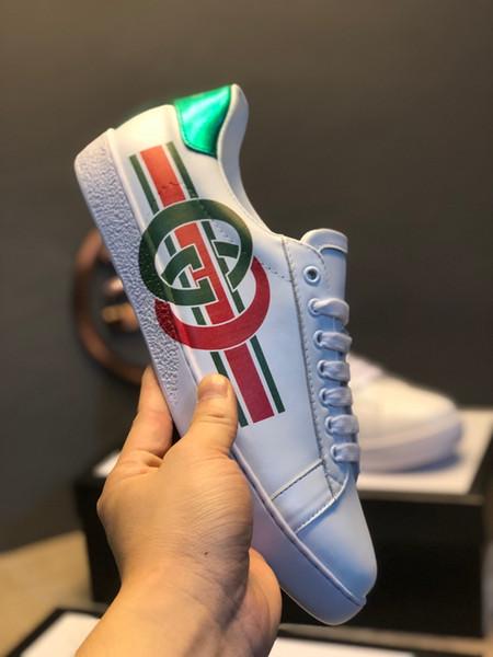 2020 da uomo scarpe firmate surface en cuir blanc imprimé lettrage marques de luxe design 3 bandes Plate-forme chaussures casual