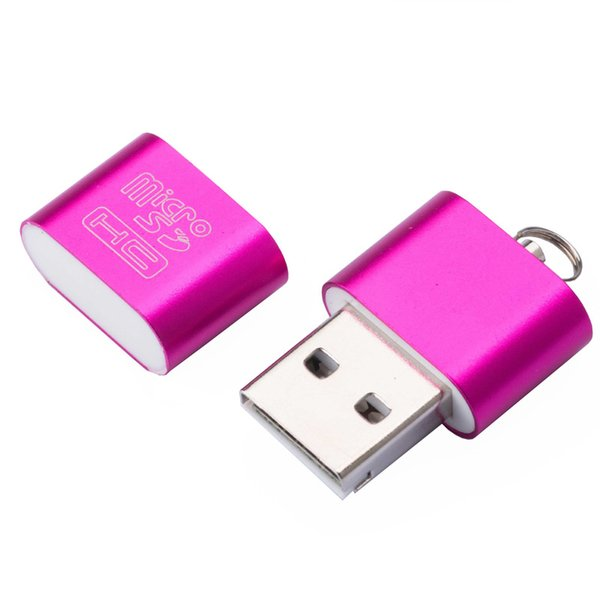 High speed USB 2.0 Interface Micro SD TF T-Flash Memory Card Reader Adapter Lightweight Portable Mini Memory CardReaderWholesale