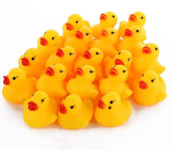 best selling Mini Rubber duck bath duck Pvc with sound Floating Duck Baby Bath Water Toy for Swimming Beach Gift Wholesale mini Rubber bath ducks Pvc