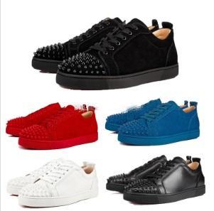 2019 Designer Baskets Bas Rouge Bas-Top Junior Spikes Flats Chaussures Hommes et Femmes En Cuir Baskets Chaussures Décontractées vente chaude personnalisé grande taille