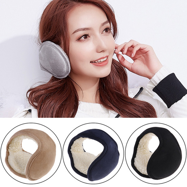 Plush Earmuffs Fordable Winter Ear Warmers Earflap Covers for Women Men