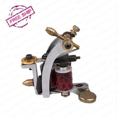 Tattoo Machine 3 Copper Coils Top Quality Casting Iron Carbon Steel Classical Frame Shader Tattoo Gun