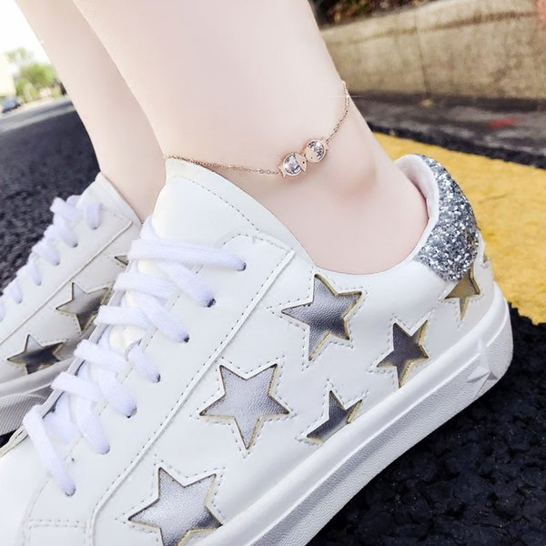 Small fish anklet female Korean sexy fashion rose gold personality net red simple niche design female models foot chain wholesale