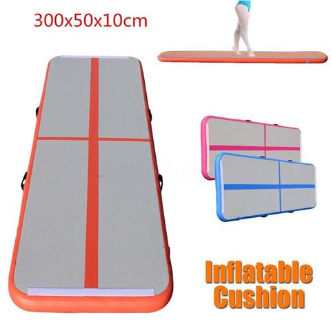 3x1x0.1m Inflatable Gymnastics Airtrack Floor Trampoline Tumbling Mat Kids Adults Air Track Air Pump Included Free Shipping