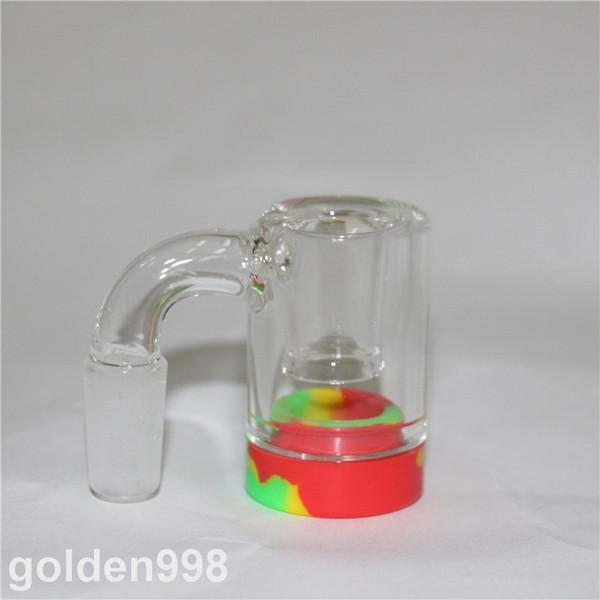 glass ashcatchers 14mm Ash catcher with silicone wax jar matrix perc glass ash catcher bubbler ash catchers dabber tools