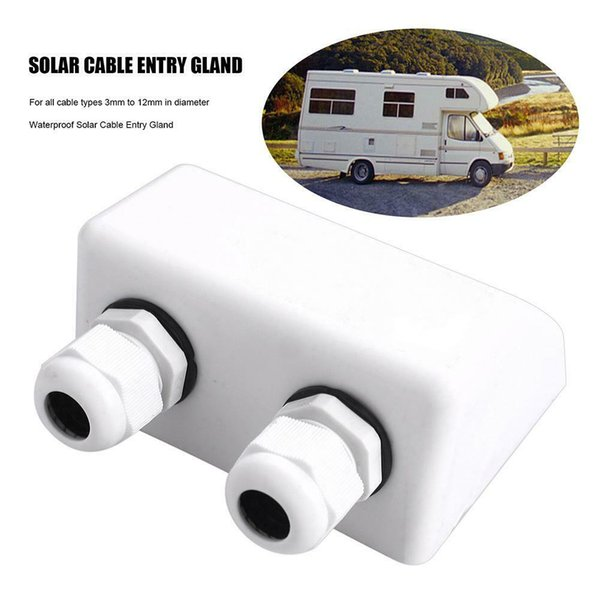 Marine Roof Solar Panel ABS Stable Entry Gland Connection Case Yachts Accessories Double Cable Protection Junction Box