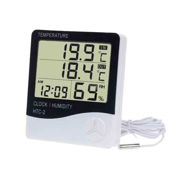 Temperature Humidity Meter Tester Thermometer Indoor Outdoor Alarm Hygrometer