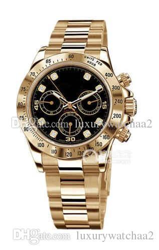 Top marque or 18 carats mens bracelet en acier montre en or rose luxe jaune montre en or jour tona Reloj Master montres automatiques montres-bracelets mécaniques