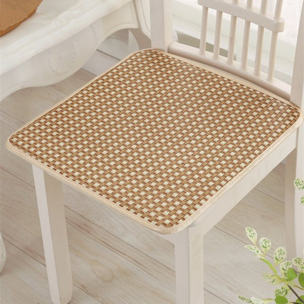 New Summer Cool Rattan Mat Seat Cushion Back Cushion For Home Office Decoration Breathable Dinning Chair Sofa Car Seat Pad