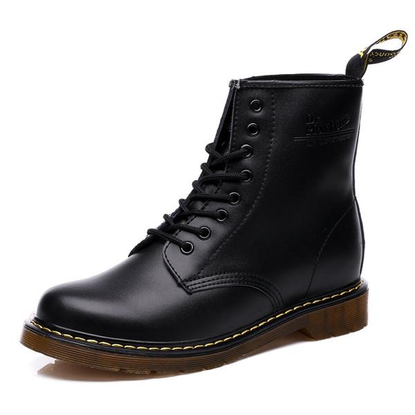 210bdb201 Бренд мужской женский Dr Fashion ботильоны из натуральной кожи боевые ботинки  Мартенс обувь ботильоны Martins осень