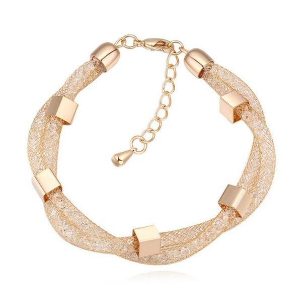 Free shipping fashion High-end Austria crystal Bracelet Dream S Weave manual Gauze transparent Bracelet Explosive jewelry Bracelet