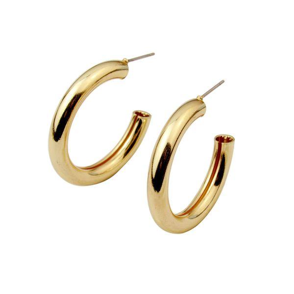Metal Elegant Hoop Earring Woman 2019 New Vintage Gold Color Cheap korean Statement Earrings Accessories