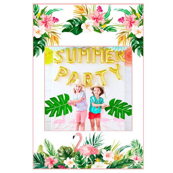 Hawaiian Party Decorations Artificial Flower Banner Balloon Flamingo Party Favors Summer Tropical Supplies Hawaii Decor Cute Party Favors Destination