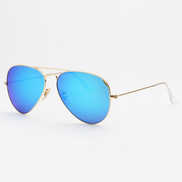 espelho azul-ouro