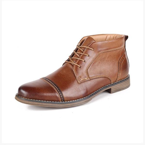 Yeni marka tasarımcı erkekler İş elbise ayakkabı hakiki deri moda rahat Düğün ayakkabıları erkek spor ayakkabısı top