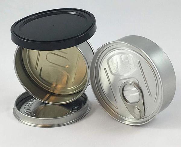 100ml Smart Bud Design Ring Zugdosen trocken Kräuterglas Behälter kinderbeständig geruchssicher individuell bedruckbar Etiketten leicht zu öffnen Metalldose luftdicht