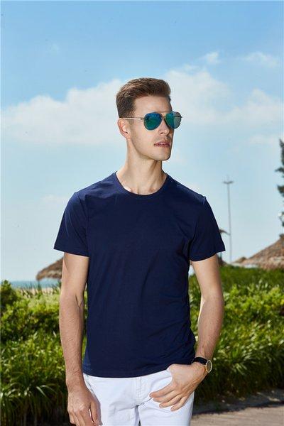S-4XL Мужчины футболка из сплошного цвета хлопка популярная одежда для фитнеса тренировка работает рубашка хорошее качество дети женщины мужчины футболка футболка 09