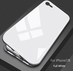 2019Ultra Magnetic Adsorption Phone Case For iPhone X 10 8 7 6 6S S Plus Luxury Metal Absorption Back Glass Cover Flip Case with retail box