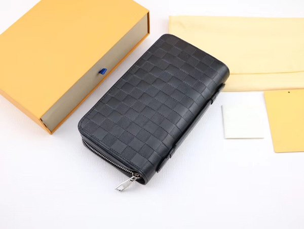 New Europe and the fashion long wallet designer wallet handbag wallet Multi-color optional purse with box