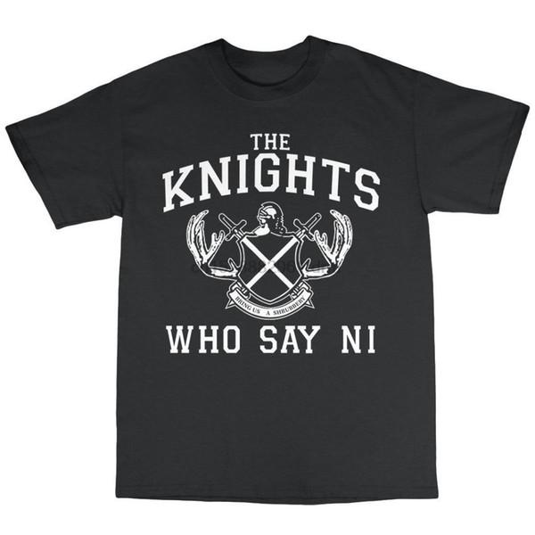 Fashion 2019 Summer Knights That Say Ni T-Shirt 100% Cotton Monty Python And The Holy Grail Brand Clothing Men t shirt