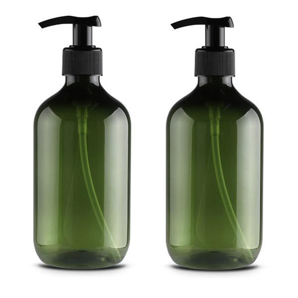 Container Shampoo Soap Dispenser Shower With Pumps Round Shoulder Storage Bottle Liquid Foam Kitchen Lotion Countertops ZJ0763