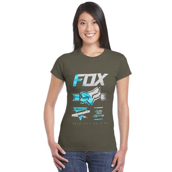 Fox Voltcano Print T Shirt Mtb Ranger Tshirt tops Tee girl Creative T-shirt casual women basic teeshirts summer running ladies clothes