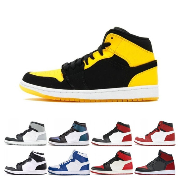 2019 Mid OG 1 top 3 men basketball shoes 1s Bred Toe Banned Chicago Game Royal Shattered Backboard Pass The Torch Sports sneakers