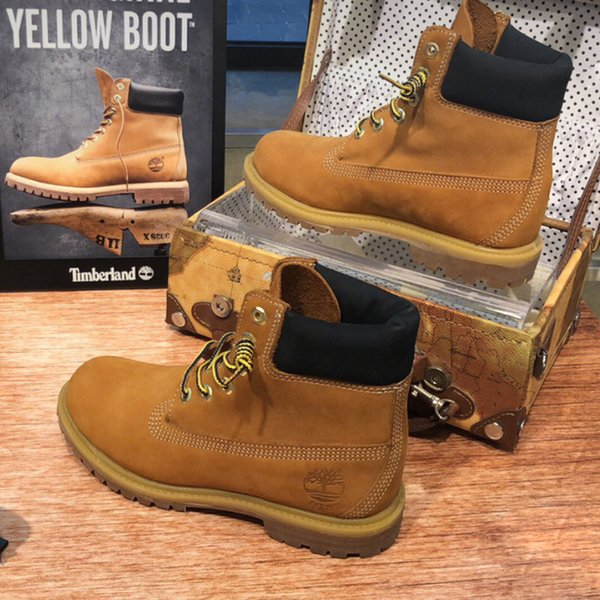Timberland Premium 6 Inch Waterproof Boot For Men Women Designer Classic Cowhide High Top Boots Sneakers Outdoor Casual Sport Shoes Chukka Boots
