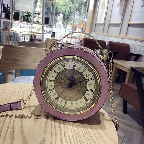 2019 new Fashion creativity personality clock style bag Women handbag chain single shoulder cross bag large capacity leisure bag