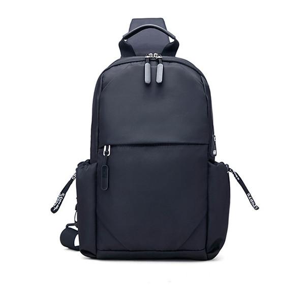 Unisexe Noir Simple Sport Style de sac à main bandoulière unisexe poitrine Sac B102103 Casual