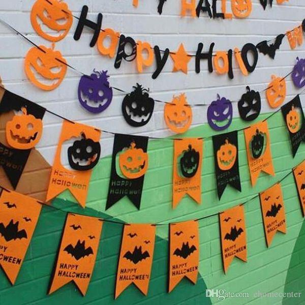 banderas felices calabaza Holloween para la decoración del partido de Halloween Festival decoración escuela de hostelería super casa de huerta decoración 2,5M HQ016 bricolaje