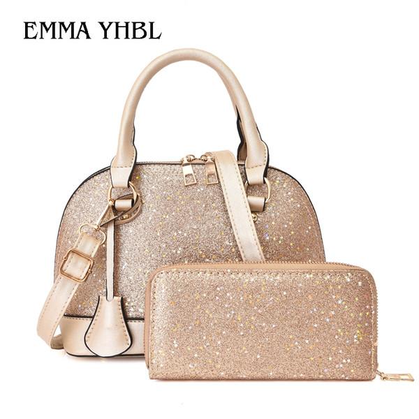 EMMA YHBL Borsa a mano con paillettes nuove moda moda femminile. Versione coreana di borsa a tracolla singola spalla