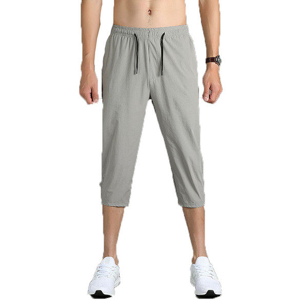 Erkek Pantolon 2019 Erkekler Joggers Marka Rahat Pantolon Sweatpants Erkek Gri Spor Egzersiz Pantolon Erkek Hip Hop Buzağı Uzunlukta