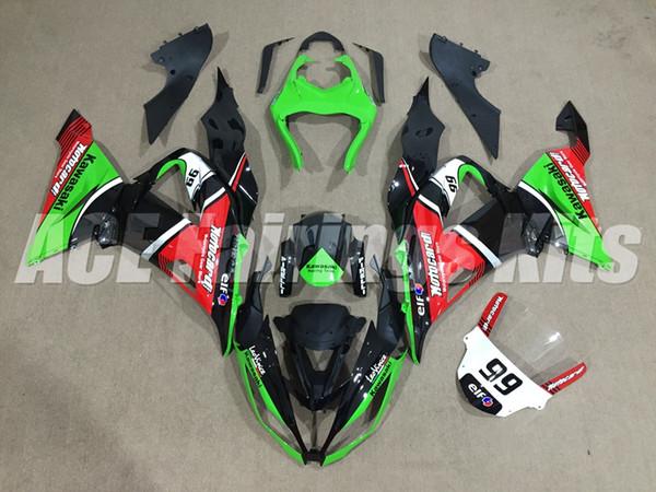 Carenados de motocicleta ABS de alta calidad aptos para kawasaki Ninja ZX6R 599 636 ZX-6R 2013 2014 2015 2016 13 14 15 16 kits de carenado Verde negro 99