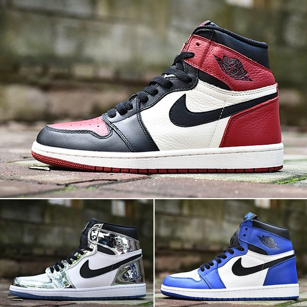 best selling Cair 1 JORDAN 1 1 High OG Bred Toe Chicago Scotts X Banned Game Royal Basketball Shoes Men 1s Top 3 Shattered Backboard Shadow Multicolor