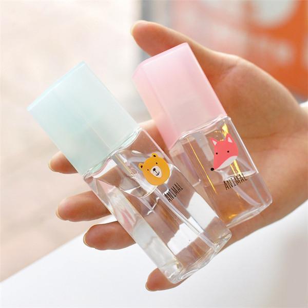 50 X 35ml/50ml Cartoon Transparent Square Spray Bottle Plastic Portable Perfume Bottles - Random Color