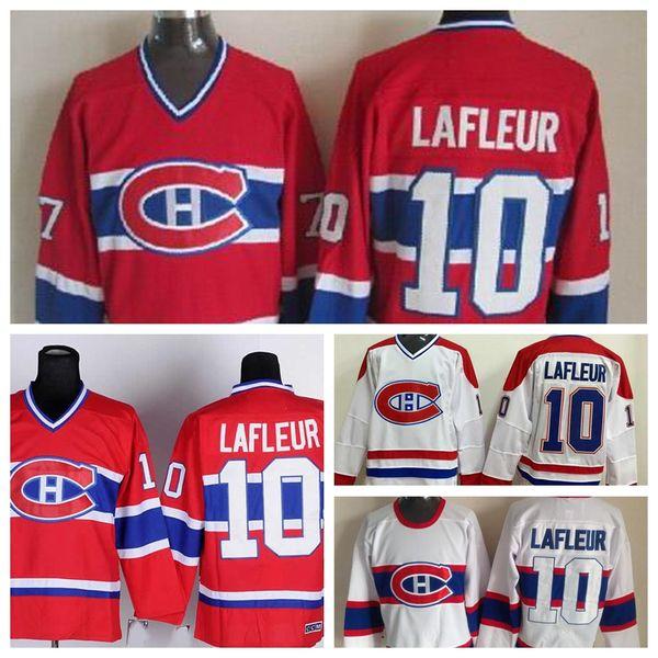 size 40 b63aa 353f6 100% Polyester Vintage #10 Guy Lafleur Jersey Mens Montreal Canadiens  Hockey Jerseys 1946 Vintage White Jean Beliveau Hockey Jersey Stitched UK  2019 ...