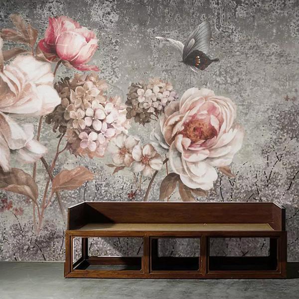 Custom Mural Wallpaper European Style Vintage Oil Painting Flower Floral Fresco Living Room Bedroom Wall Decor Photo Wall paper