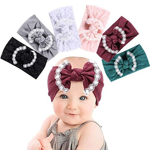3 Design Baby Girls Headband Kids Gold Stamping Knot Bows Headwrap Infant Newbron Nylon Head Band INS Fashion Hair Accessories Infant