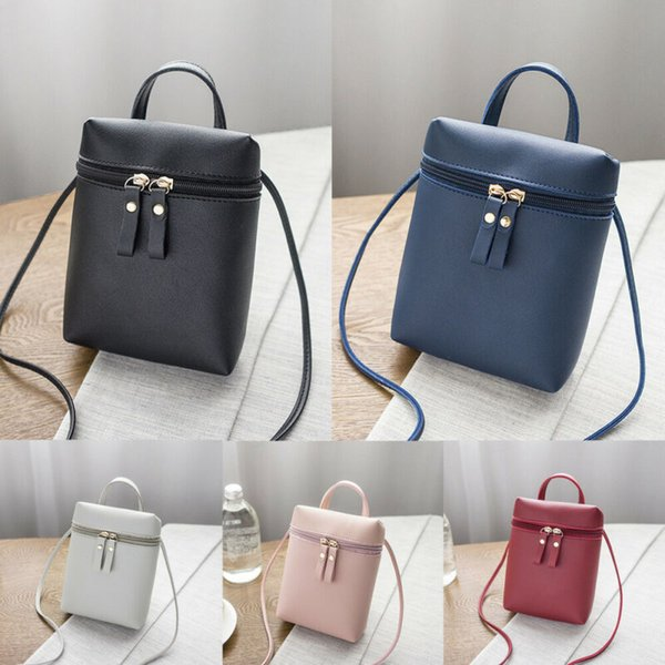 New Women Square Bag Fashion Leather Zipper Handbags Solid Color Shoulder Bag Small Crossbody Bags For Ladies Messenger Bags
