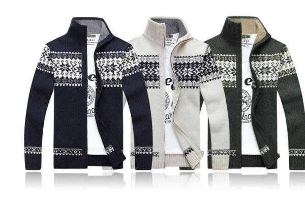 lst910144 Mens Designer Cardigan jeunes imprimé chandail garçons manteau Zipper vêtements chauds New Fashion Style Automne 2019
