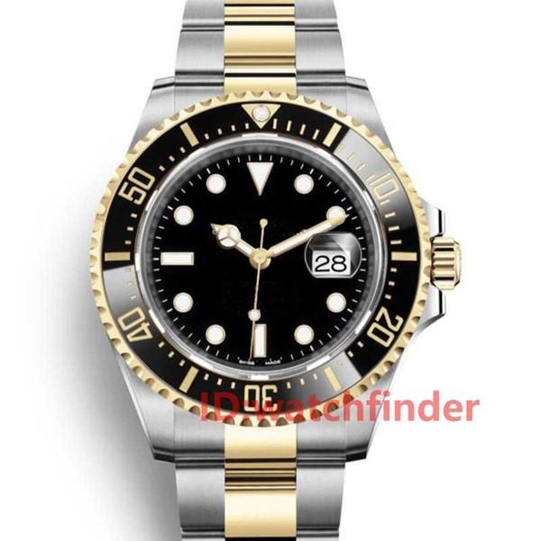2019 Seramik Çerçeve 43mm KıRMıZı 18ct Altın SEA-DWELLER Stanless Çelik 126603 Otomatik Lüks tasarımcı Mens watch man Saatı Saatler