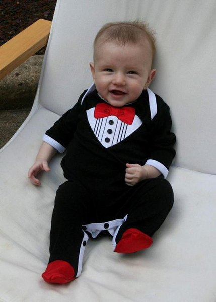 Baby One Piece Rompers New Gentleman Clothes And Shoes Set Origins Childrens Clothing Wholesale Boys Gentleman Romper