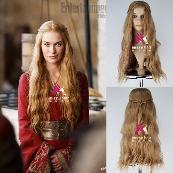 A Game Of Thrones Cersei Lannister Wig Long Wavy Golden Brown Cosplay Wig Lace Wig Tape Freetress Synthetic Wigs From Xiao130 2411 Dhgatecom