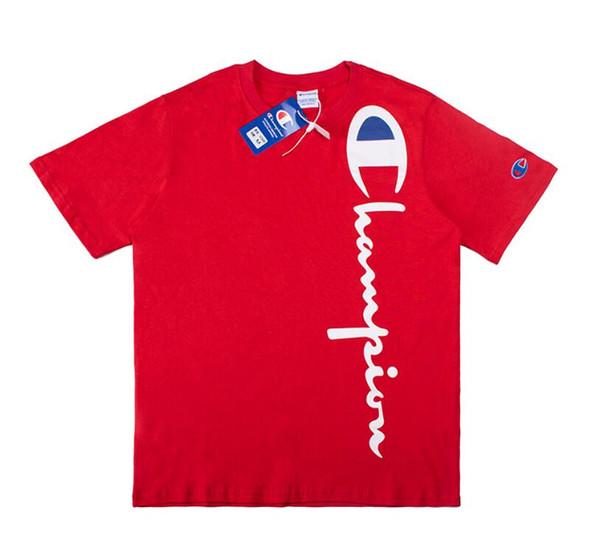 Teen Summer Boy Short Sleeve Cotton Fabric Round Neck T-Shirt Letter Print Black Blue White Red Size M-2XL