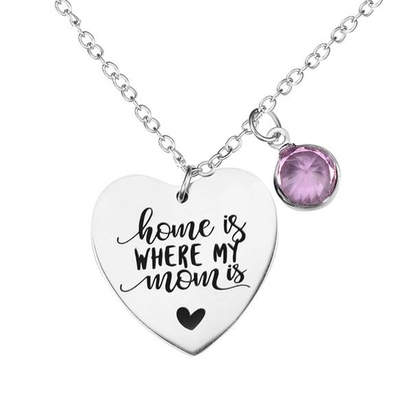 Acheter La Maison Est Où Maman Est Mère Citation Charme Pendentif Collier Diamant Perles Cadeau Fête Des Mères Cadeau Danniversaire Colliers Bijoux