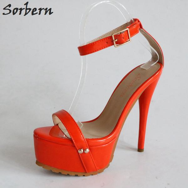Danseur Rouge Vente Taille Hauts 35 À Talons Exotique 40 Orange En Chaussures Extrême Sandales La HautsPlus Femmes Acheter Gros XOZiuPk